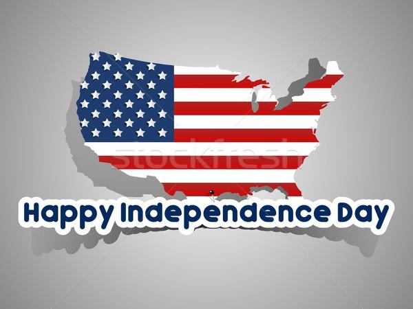 Heureux USA jour carte résumé carte Photo stock © nicousnake