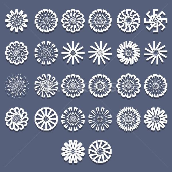 спиральных структур шаблон набор дизайна аннотация Сток-фото © nicousnake