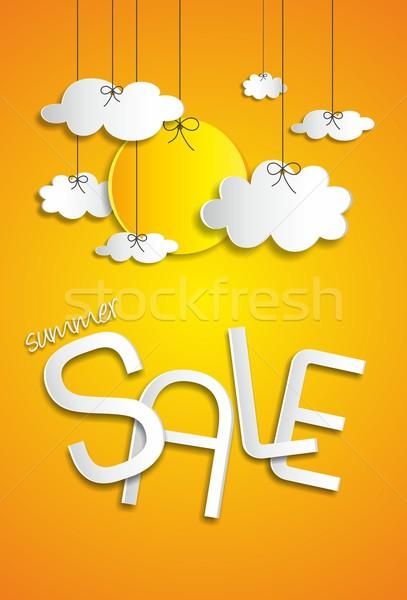 Photo stock: été · vente · nuages · soleil · affaires · mode