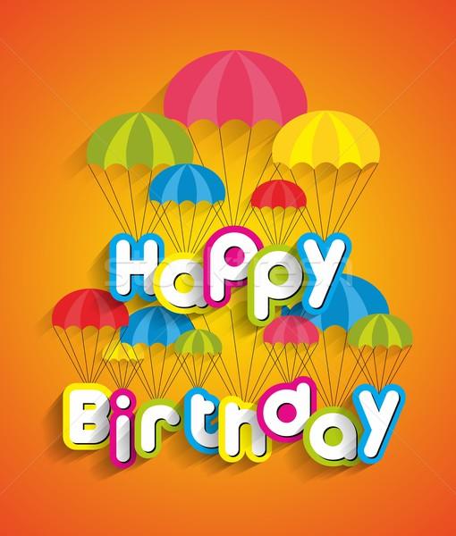 Joyeux anniversaire carte de vœux papier fête heureux enfants Photo stock © nicousnake