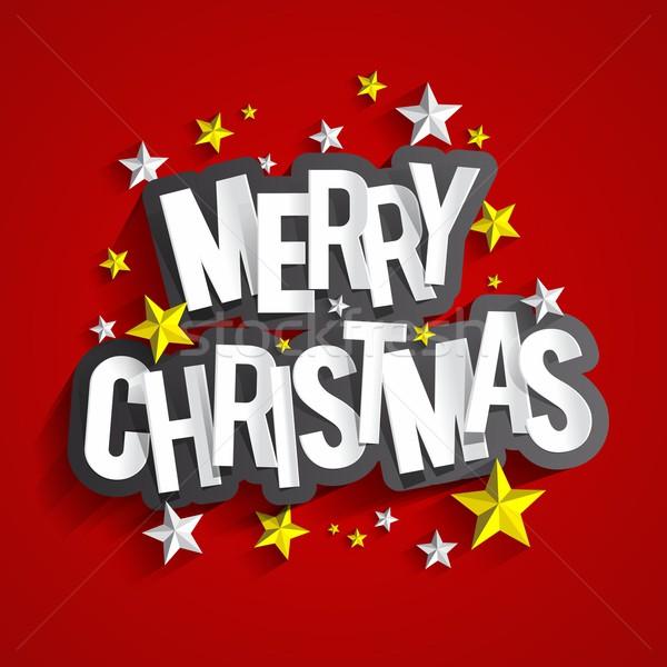 Photo stock: Joyeux · Noël · carte · de · vœux · Creative · heureux · design