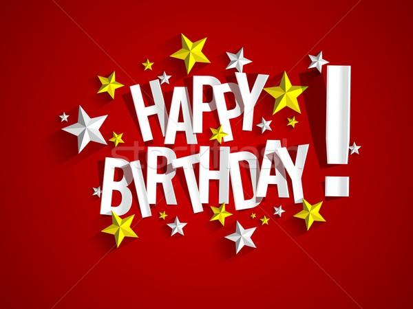 С Днем Рождения красочный бумаги текстуры счастливым Сток-фото © nicousnake