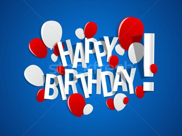 Photo stock: Joyeux · anniversaire · carte · de · vœux · coloré · papier · texture · heureux