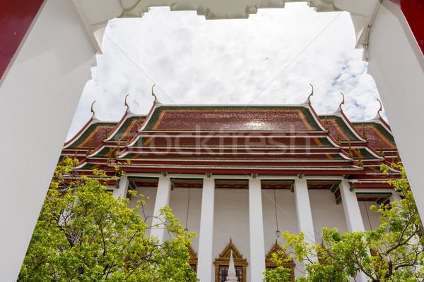 Bangkok Tayland kale mimari Asya beyaz Stok fotoğraf © nicousnake