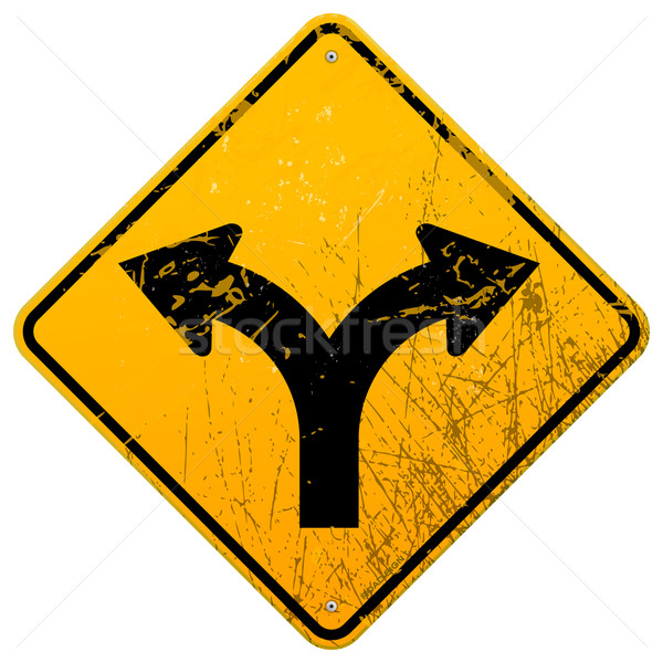 Forked road sign Stock photo © nikdoorg