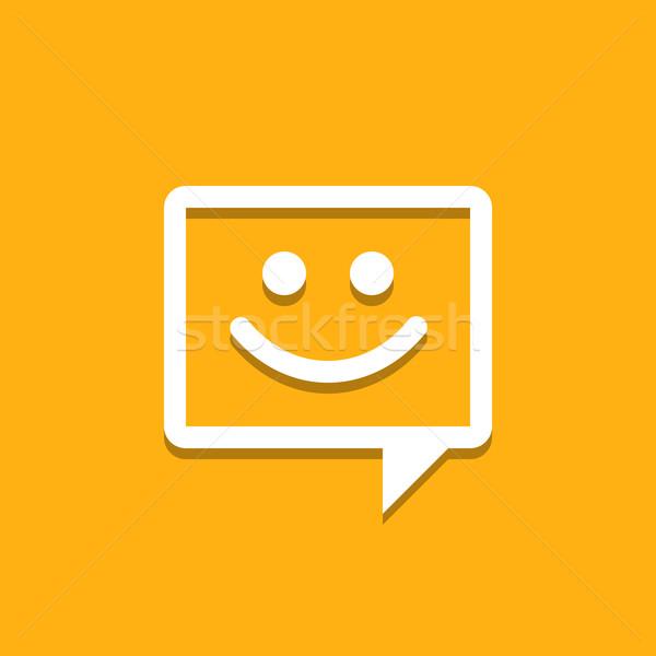 Happy Chat Icon  Stock photo © nikdoorg