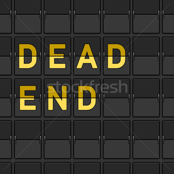 Dead End Flip Board Stock photo © nikdoorg