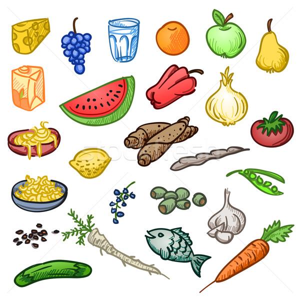 Vers gezonde voeding smakelijk plantaardige fruit voedsel Stockfoto © nikdoorg