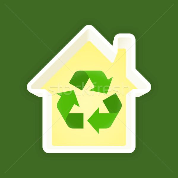 теплица экология Recycle символ белом доме кадр Сток-фото © nikdoorg