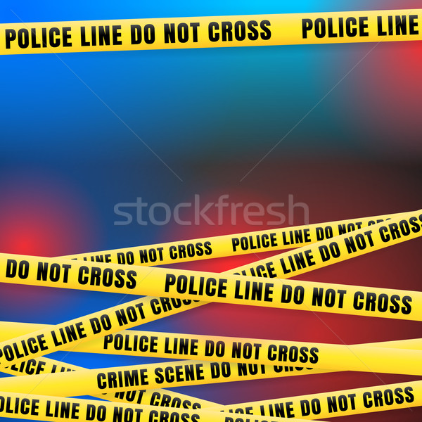 Police Line w Red Blue Lights  Stock photo © nikdoorg