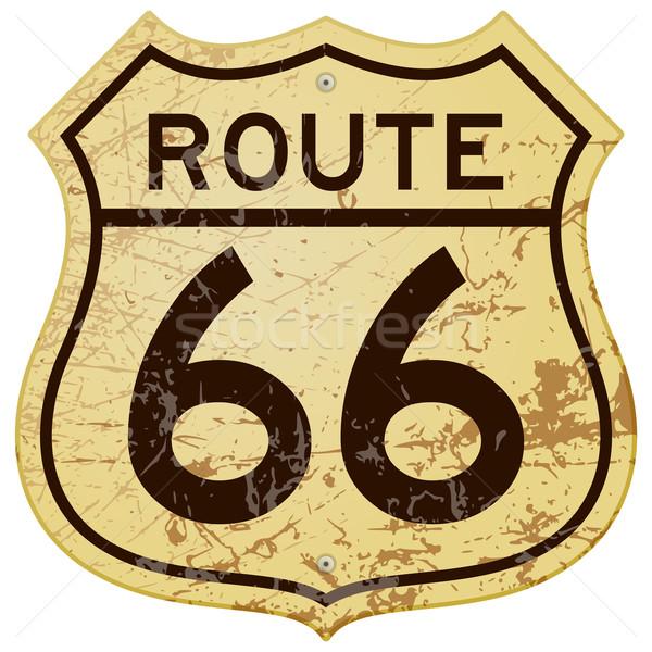 Enferrujado route 66 vintage ilustração completo Foto stock © nikdoorg