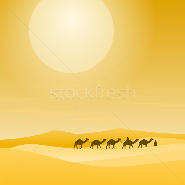 Caravan With Sand Dunes Stock photo © nikdoorg