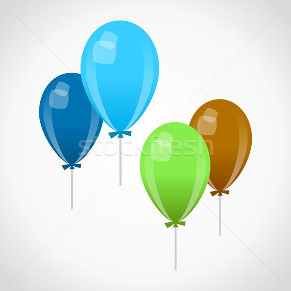Décoration ballons bleu vert brun célébration Photo stock © nikdoorg