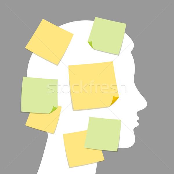 Abstract notes and idea making Stock photo © nikdoorg