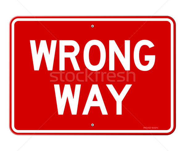 Wrong Way Sign Stock photo © nikdoorg