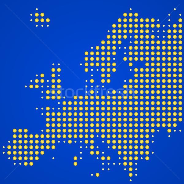 Europa mapa ilustração pontilhado europeu silhueta Foto stock © nikdoorg