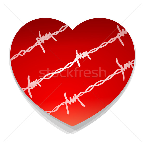 Barbwire Love Heart Stock photo © nikdoorg