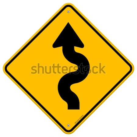 Winding Road Sign Stock photo © nikdoorg