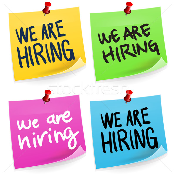 We Are Hiring Sticky Note  Stock photo © nikdoorg