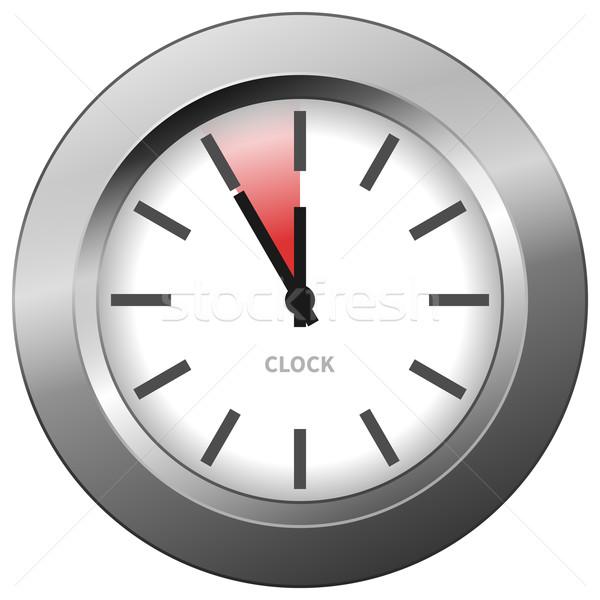 Foto stock: Luz · relógio · cromo · cinco · projeto