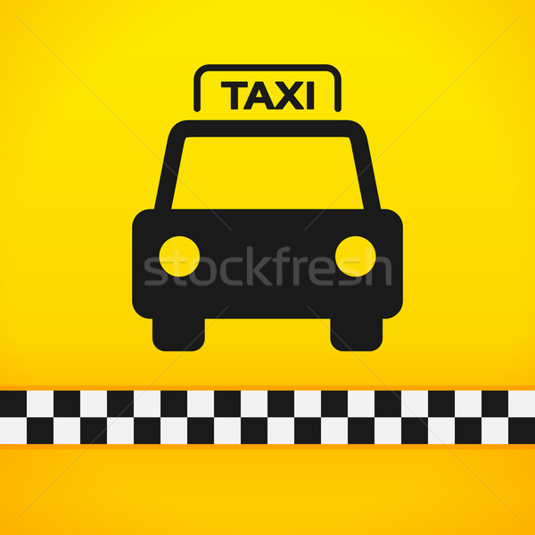 Taxi symbole jaune noir silhouette Photo stock © nikdoorg