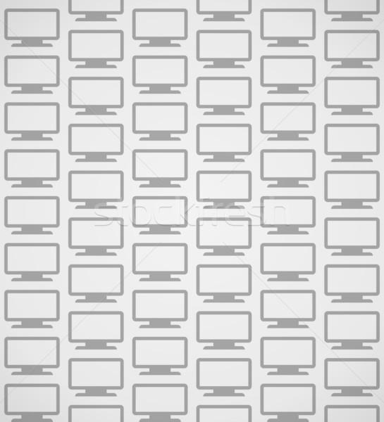 Flatscreen patroon digitale scherm abstract grijs Stockfoto © nikdoorg