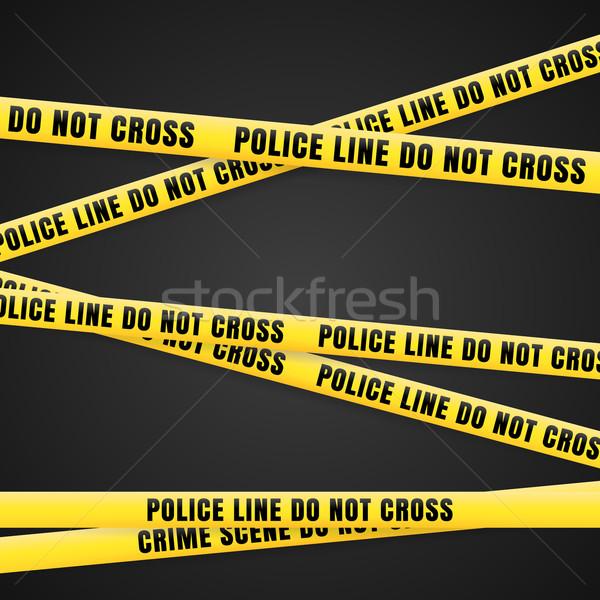 Criminal Scene Yellow Line  Stock photo © nikdoorg