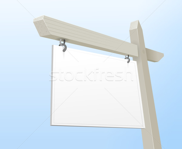 Blanche immobilier signe propriété proposer espace Photo stock © nikdoorg