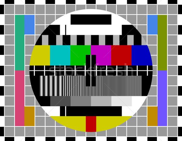 PAL TV test signal Stock photo © nikdoorg