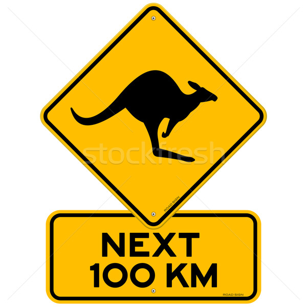 Kangaroos Next 100 km Stock photo © nikdoorg