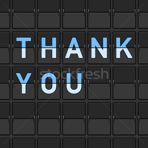 Thank You Flip Board Stock photo © nikdoorg