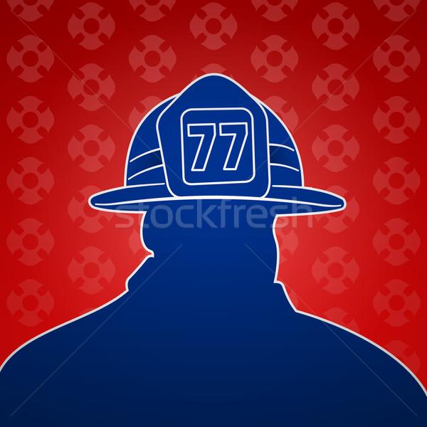 消防 シンボル アメリカン シンボル 赤 青 ストックフォト © nikdoorg