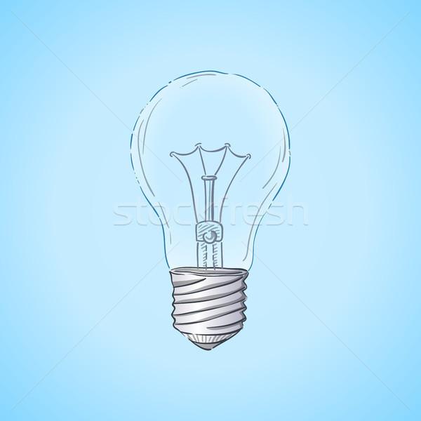 Ampoule illustration verre ampoule idée symbole Photo stock © nikdoorg