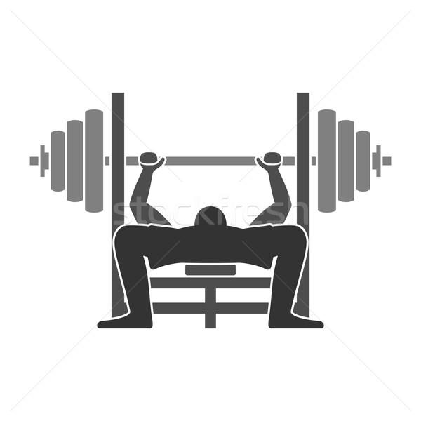Banco imprensa ícone ginásio treinamento exercício Foto stock © nikdoorg