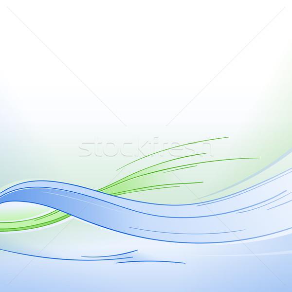 Bleu vert vagues fraîches ondulés texture Photo stock © nikdoorg