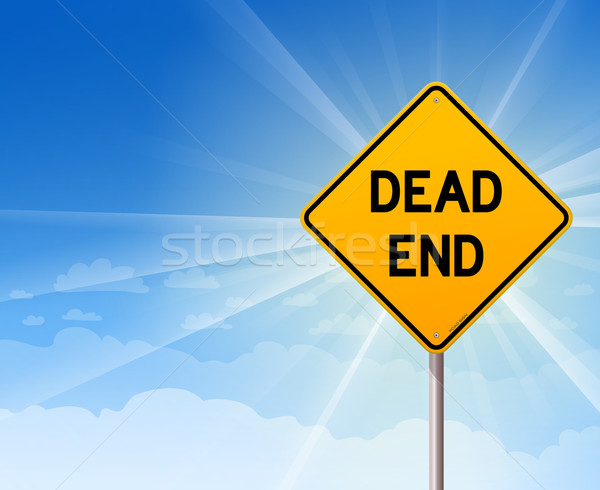 Dead End Sign and Blue Sky Stock photo © nikdoorg