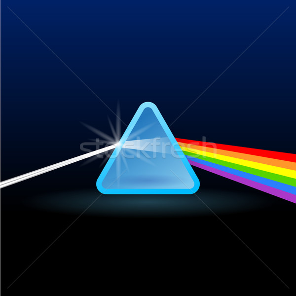 Rainbow Light Separation with Triangle Stock photo © nikdoorg