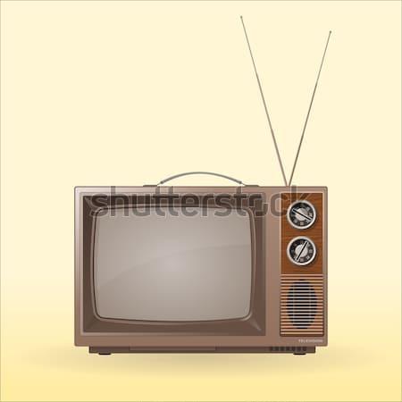 Old Retro TV Stock photo © nikdoorg