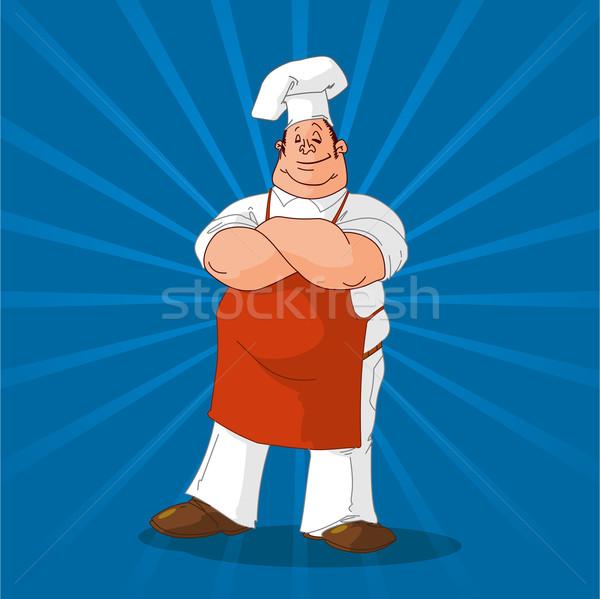 Cook bleu coloré chef illustration brillant Photo stock © nikdoorg