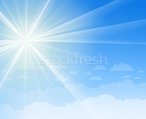Ciel bleu soleil ciel terre scène soleil Photo stock © nikdoorg