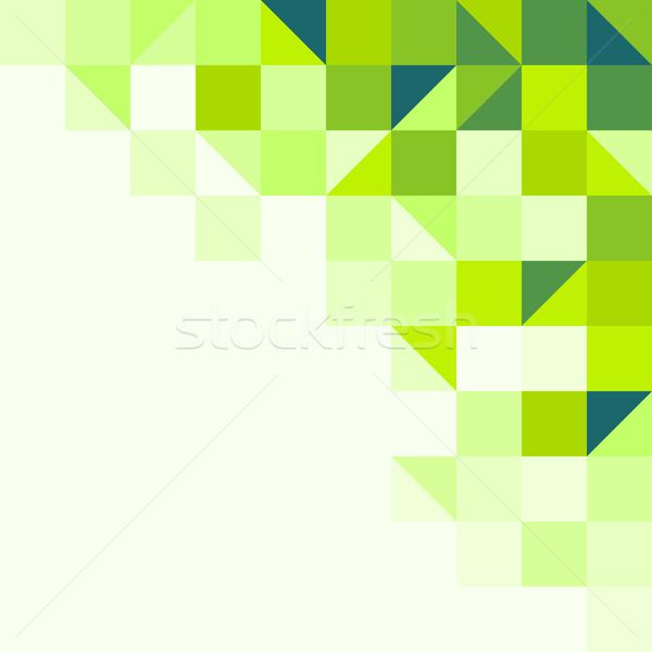 Vert géométrique fond structure une Photo stock © nikdoorg