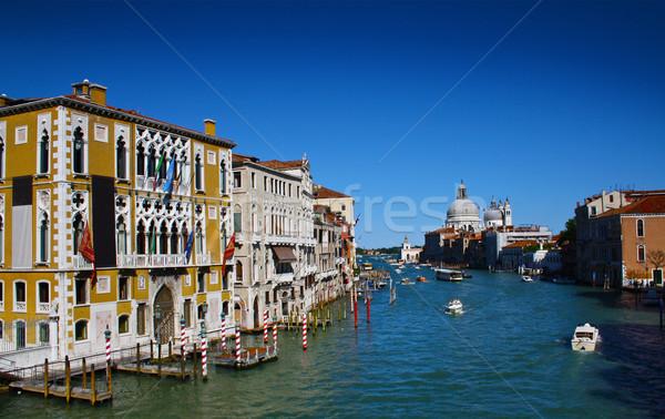água canal Veneza tradicional casa Foto stock © nikdoorg