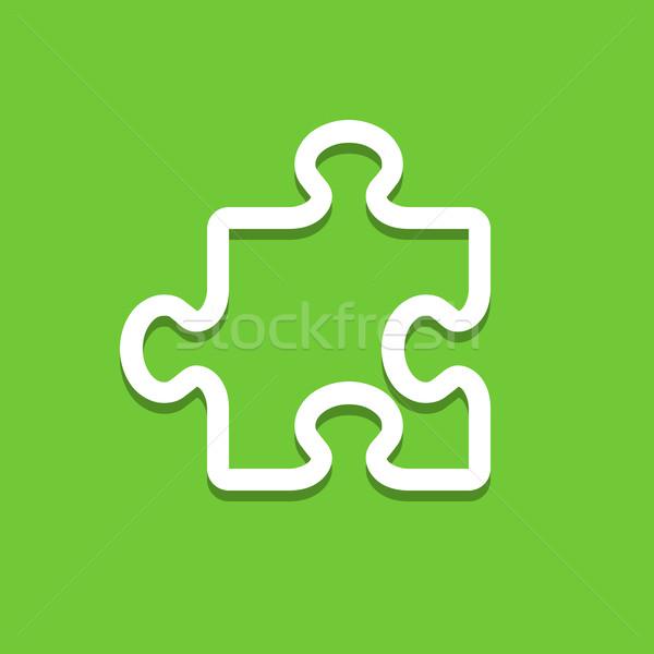 головоломки икона иллюстрация игры символ кусок Сток-фото © nikdoorg