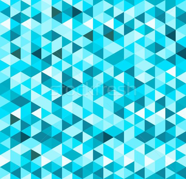 Azul geométrico sin costura turquesa patrón formas Foto stock © nikdoorg