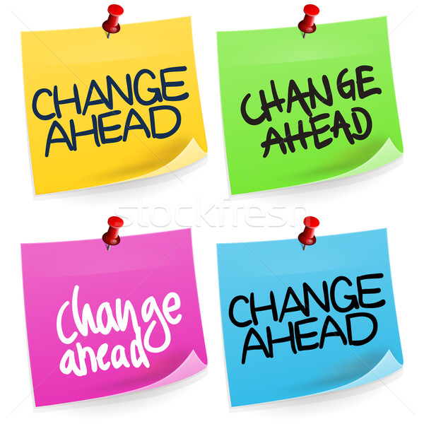 Change Ahead Sticky Note  Stock photo © nikdoorg