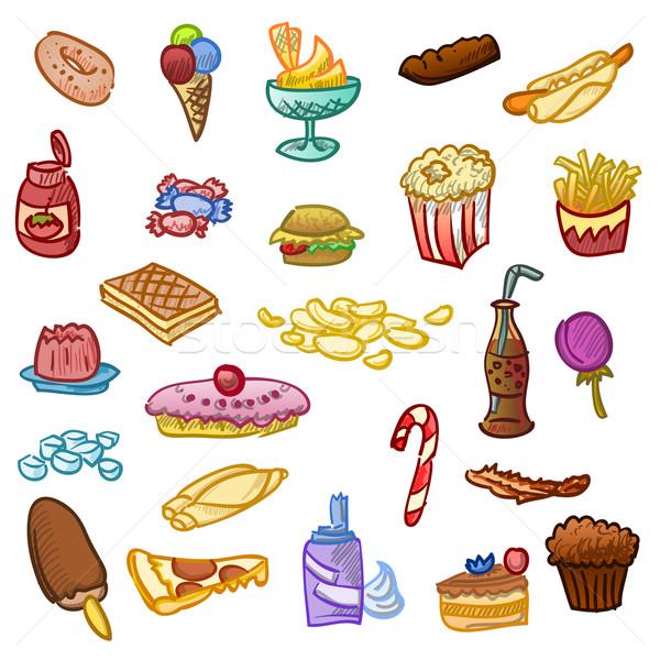 Sağlıksız gıda fast-food hamburger diyet örnek Stok fotoğraf © nikdoorg