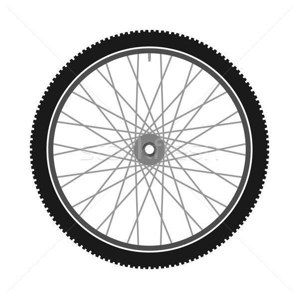 Isolé vélo roue vélo illustration sport Photo stock © nikdoorg