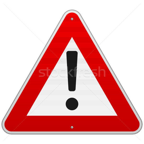 Isolated Alert Triangle Sign Stock photo © nikdoorg