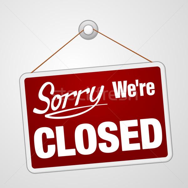 закрыто знак розничной магазине красный символ Сток-фото © nikdoorg