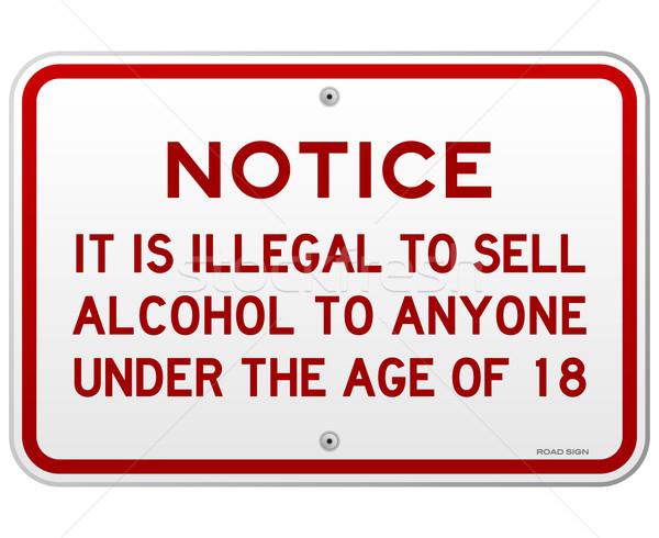 алкоголя 18 лет металлический красный Сток-фото © nikdoorg